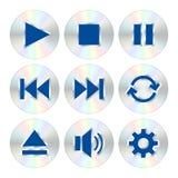 音乐播放器按钮 免版税库存图片