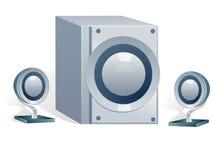 音乐播放器 向量例证