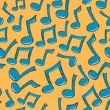 音乐无缝附注的模式 免版税库存照片