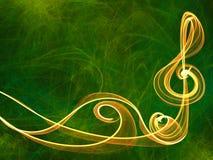 音乐标志多彩多姿的线装饰品背景 免版税库存图片