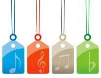 音乐标签 库存例证