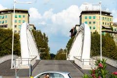 音乐桥梁-阿尔曼多Trovajoli在罗马 库存照片