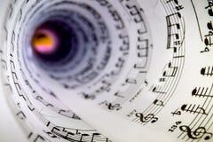 音乐比分作为锥体 免版税库存照片
