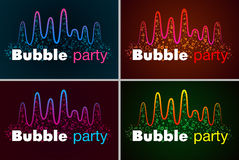 音乐泡影调平器酒吧的例证在发光的背景中 免版税库存图片