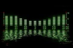 音乐波形形式 免版税库存图片