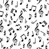 音乐注意无缝的样式 免版税库存图片