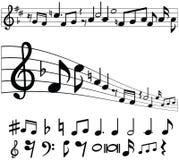 音乐注意符号 库存照片