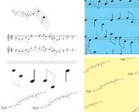 音乐注意集合符号 库存例证
