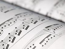 音乐注意页 免版税库存图片