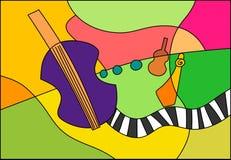 音乐爵士乐大提琴 库存例证