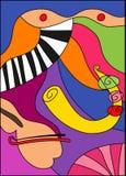 音乐爵士乐小提琴 向量例证