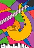 音乐爵士乐萨克斯管 皇族释放例证