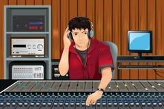 音乐生产者工作室 库存照片