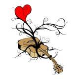 从音乐生长爱 库存照片