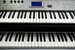音乐电钢琴 库存照片