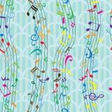 音乐笔记无缝的样式 库存照片