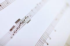 音乐笔记,关闭 免版税库存照片