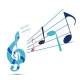 音乐符号 免版税库存照片