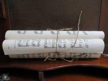 音乐纸卷 库存图片