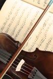 音乐纸张小提琴 免版税库存图片