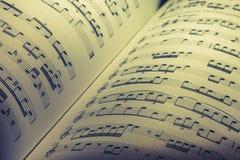 音乐纸张背景 库存照片