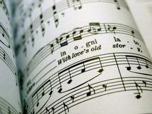 音乐纸张 免版税图库摄影