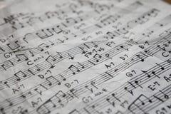 音乐纸张 库存照片