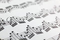 音乐纸张 图库摄影