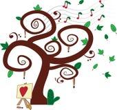 音乐绘画结构树 免版税库存照片