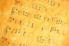 音乐老页 免版税库存图片