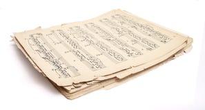 音乐老页 免版税库存照片