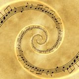 音乐螺旋概念背景 库存图片