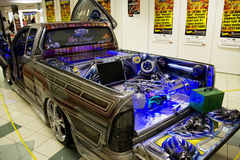 音乐装货系统卡车xtreme 库存照片