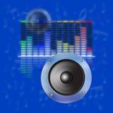 音乐设计,声波,调平器 库存图片