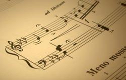 音乐评分 免版税图库摄影