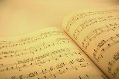 音乐评分 免版税库存图片