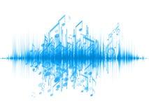 音乐通知 库存图片