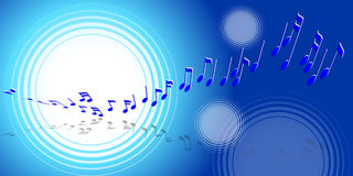 音乐通知 皇族释放例证