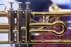 音乐铜管乐器细节 库存图片