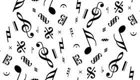 音乐附注无缝的向量 免版税图库摄影