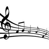 音乐附注 免版税库存照片