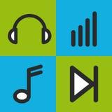 音乐集合象设计 向量例证