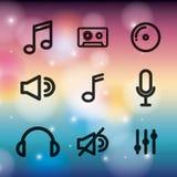 音乐集合象设计 库存例证