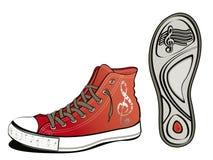 音乐鞋子 图库摄影