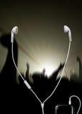 音乐音乐会的耳机 免版税库存图片
