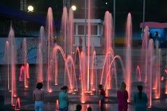 音乐,被点燃的喷泉 图库摄影