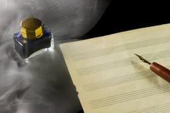 音乐paper.old音乐paper.grunge effect.musical背景 库存图片