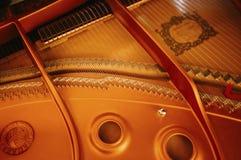 音乐performer'的特写镜头;弹钢琴的s手 免版税图库摄影