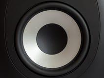 音响低音扩音器,立体声音响关闭 免版税图库摄影
