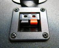 音响连接器 免版税库存照片
